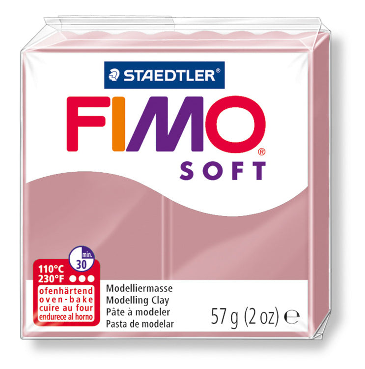 Staedtler Fimo Soft Modelling Clay Block 56g - Antique Rose