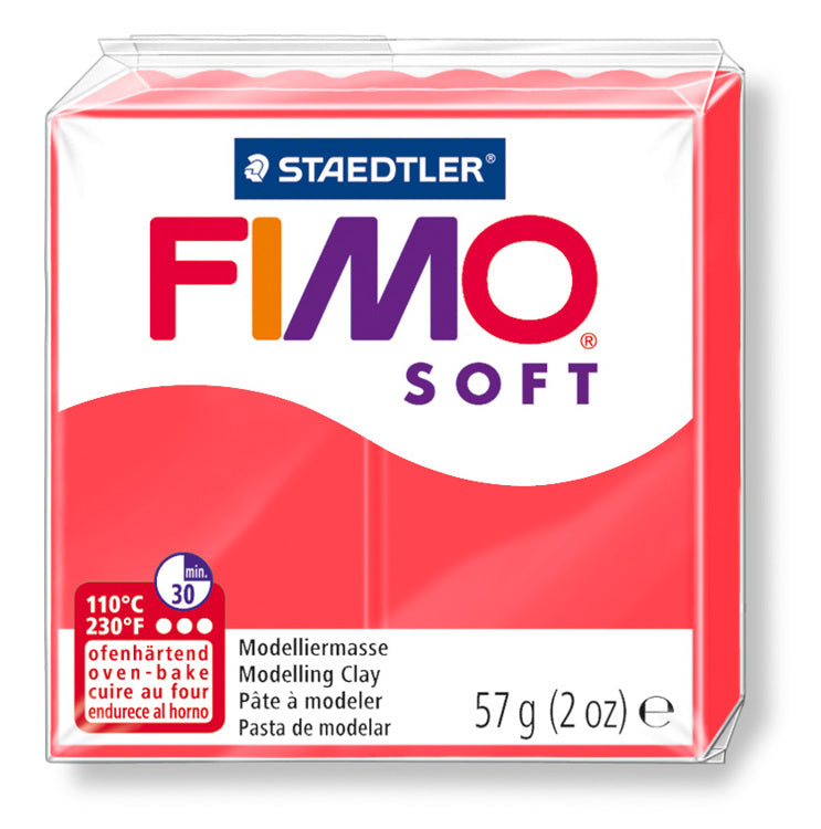 Staedtler Fimo Soft Modelling Clay Block 56g - Flamingo