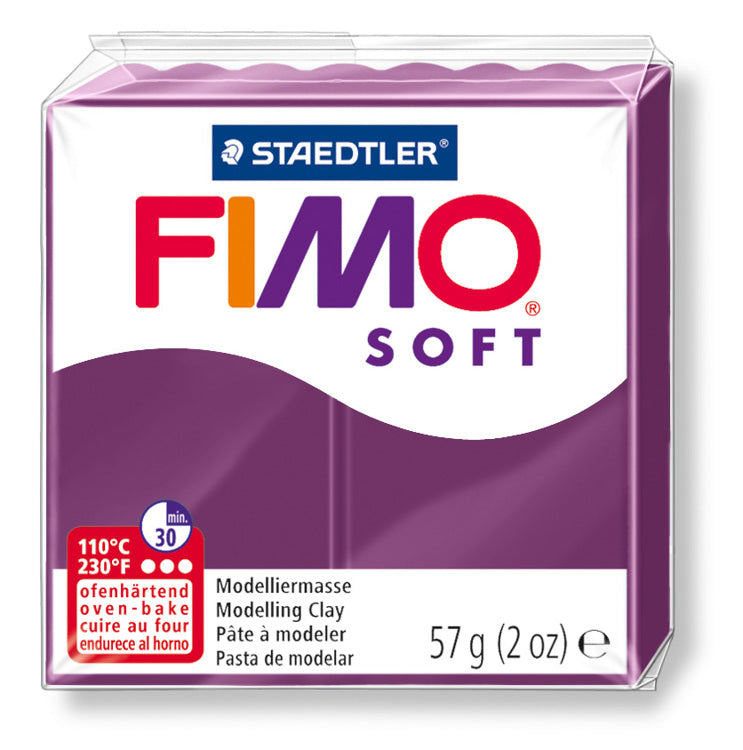 Staedtler Fimo Soft Modelling Clay Block 56g - Royal Violet
