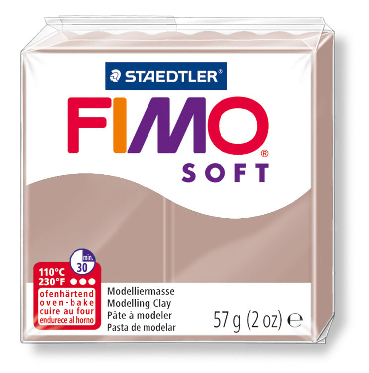 Staedtler Fimo Soft Modelling Clay Block 56g - Taupe