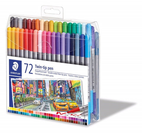 Staedtler Twin Fibre Tip Pens 72 Colours