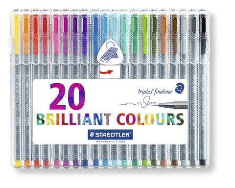 Staedtler Triplus Fineliner - 20 Brilliant Colours 0.3mm