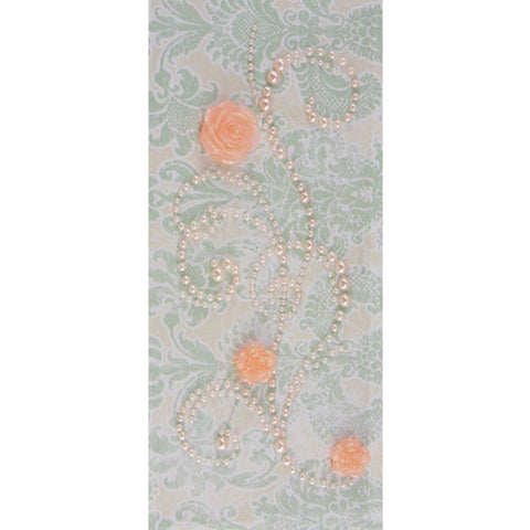 "*CLEARANCE* Prima ""Say it in pearls"" with flowers - Light Pink"