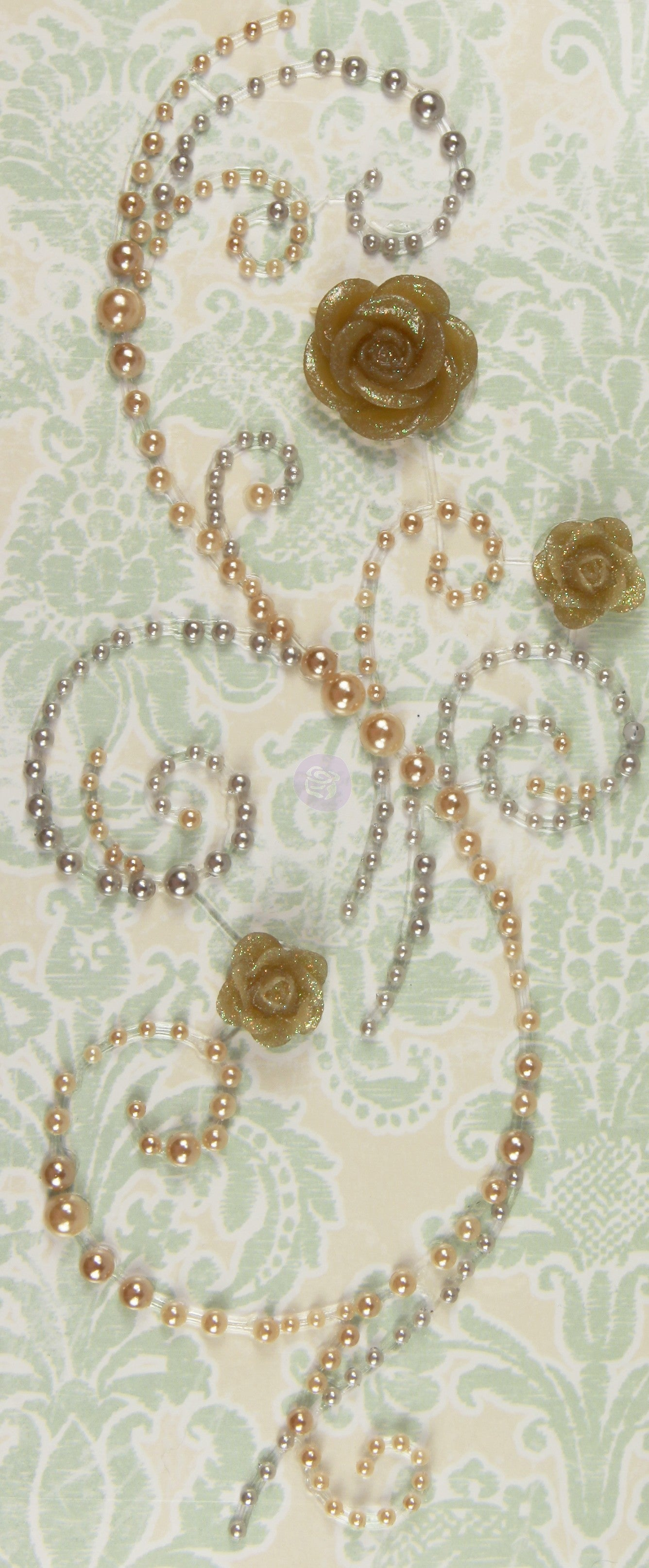 "*CLEARANCE* Prima ""Say it in pearls"" with flowers - Antique"