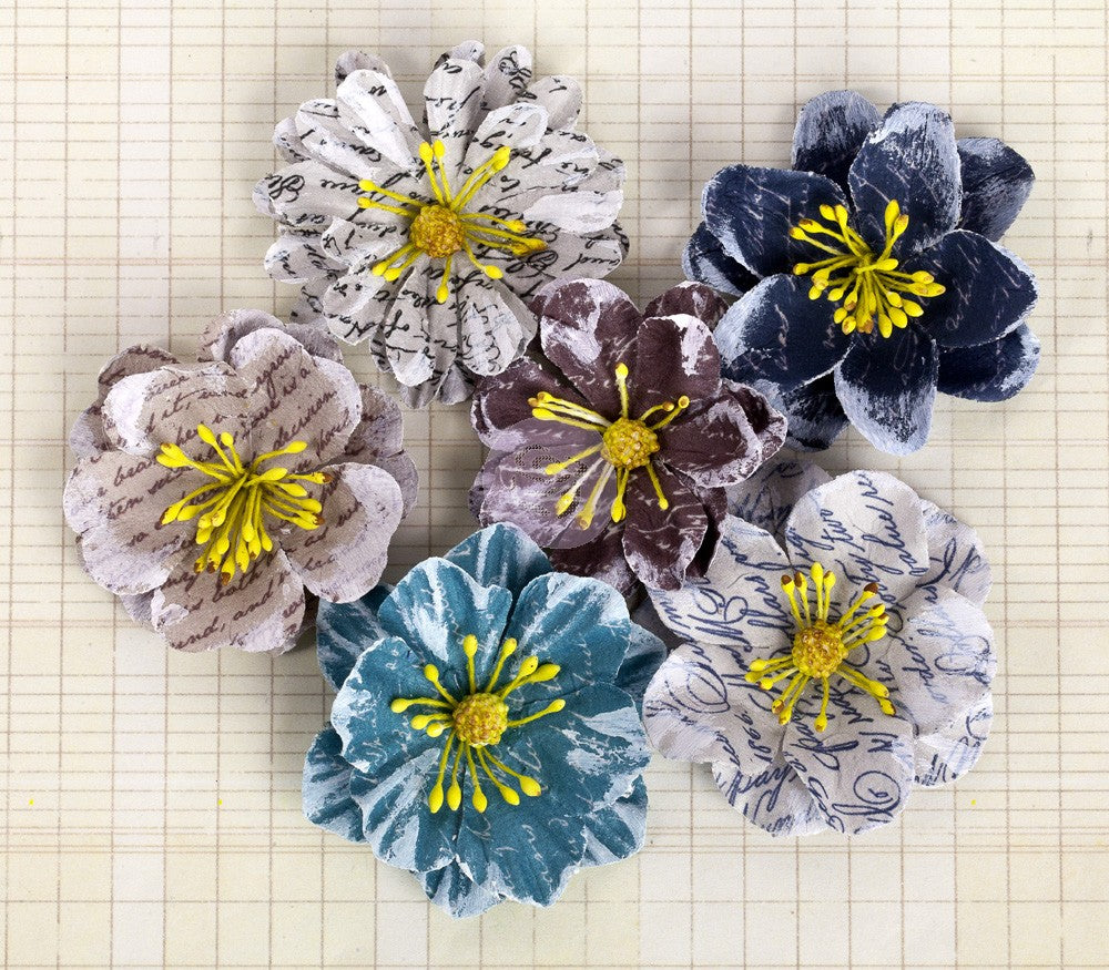 *CLEARANCE* Prima Labelle Tranquil Mulberry Paper Flowers