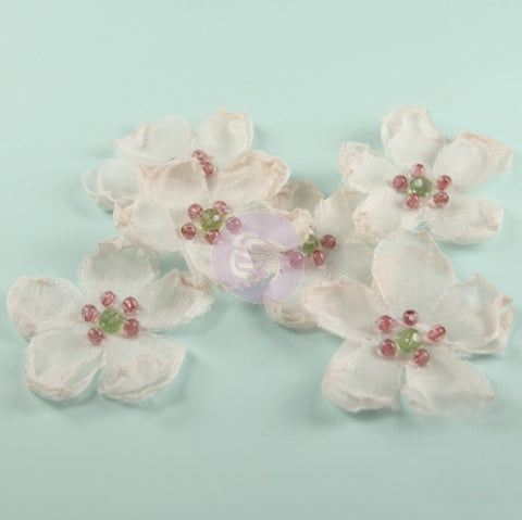 *CLEARANCE* Prima Elle Collection Pink Chiffon Fabric Flowers