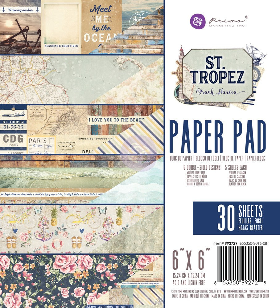 "Prima Marketing St. Tropez 6 x 6"" Paper Pad"