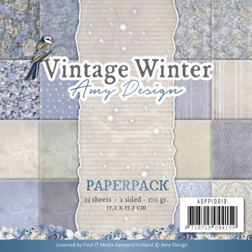 Amy Design Vintage Winter 6 x 6 Paper Pack