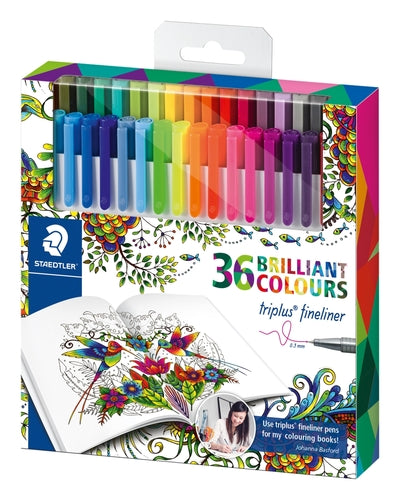 Staedtler Triplus Fineliner - 36 Brilliant Colours 0.3mm