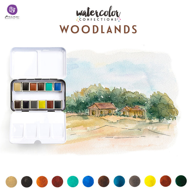 Prima Watercolour Confections - Woodlands
