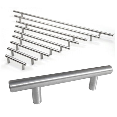 "HIC Bar Pull Cabinet Handle Brushed Nickel Solid Steel 12mm, 36"" x 44"""