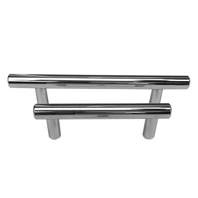 "Celeste Bar Pull Cabinet Handle Polished Chrome Solid Steel 12mm, 19"" x 24"""