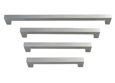 "Panel Ready Refrigerator Appliance Pull Brushed Nickel Square Bar Pull Handle - Sizes 8"" to 18"""