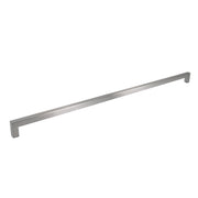 "Brushed Nickel Square Bar Pull Cabinet Handle - Sizes 4"" to 24"" - (1/2"" Thickness)"