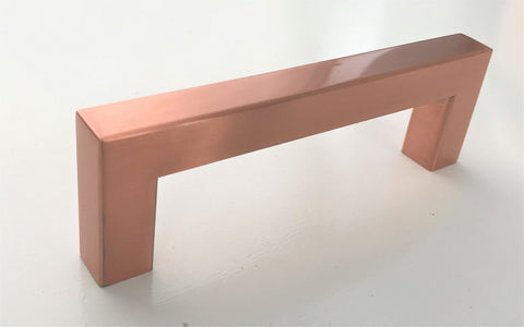 "Copper Square Bar Pull Cabinet Handle - Sizes 4"" to 24"" - (1/2"" Thickness)"