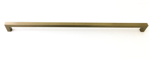 "Champagne Gold Square Bar Pull Cabinet Handle - Sizes 4"" to 24"" (1/2"" Thickness)"