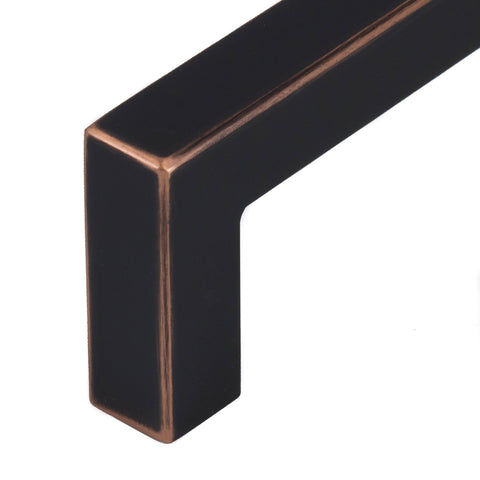 Celeste Square Bar Pull Cabinet Handle Oil-Rubbed Bronze Stainless Steel 12mm, 24""