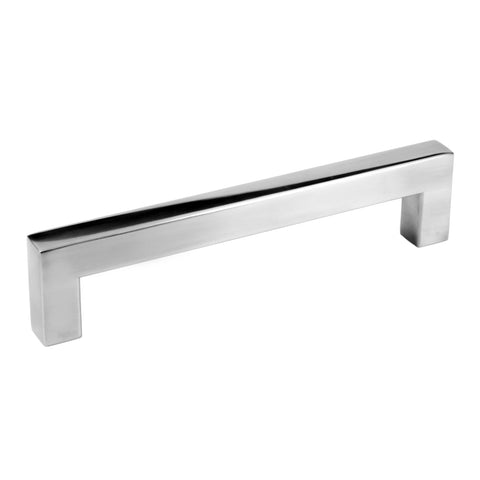 "Polished Chrome Square Bar Pull Cabinet Handle - Sizes 4"" to 24"" - (1/2"" Thickness)"