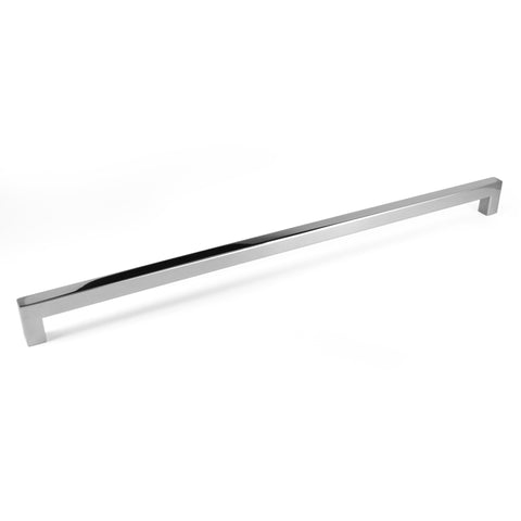 "Polished Chrome Square Bar Pull Cabinet Handle - Sizes 4"" to 24"" - (5/8"" Thickness)"