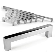 Celeste Square Bar Pull Cabinet Handle Polished Chrome Stainless Steel 14mm, 24""