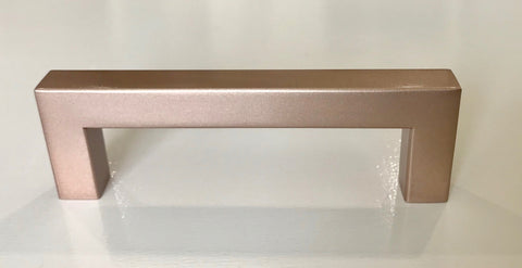 "Rose Gold Square Bar Pull Cabinet Handle - Sizes 4"" to 24"" - (1/2"" Thickness)"