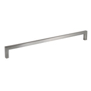 "Brushed Nickel Zinc Square Bar Pull Cabinet Handle - Sizes 5"" to 12.5"" - (3/8"" Thickness)"
