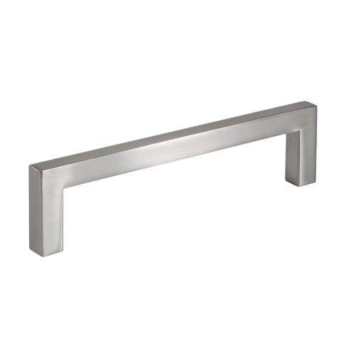 Celeste Square Bar Pull Cabinet Handle Brushed Nickel Solid Zinc 9mm, 12.6""