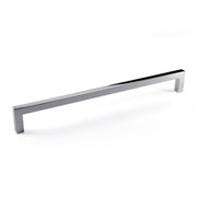 "Polished Chrome Zinc Square Bar Pull Cabinet Handle - Sizes 5"" to 12.5"" - (3/8"" Thickness)"