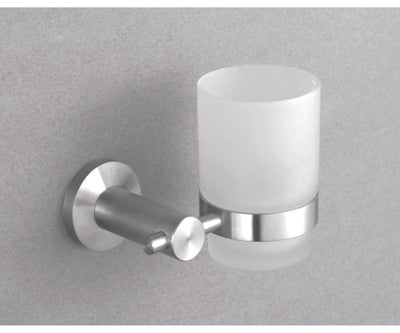 Alpha BN Tumbler Holder - Single - Brushed Nickel