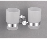 Alpha BN - Tumbler Holder - Double - Brushed Nickel