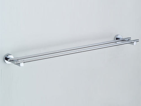 Omega Towel Bar - Double - 22-Inch - Polished Chrome