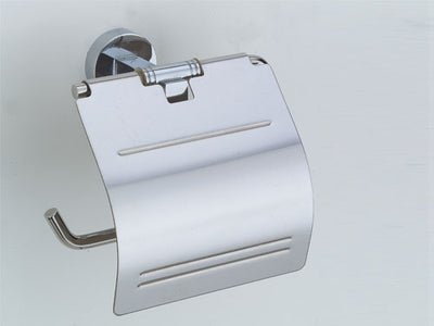 Omega Toilet Paper Holder - Single - Polished Chrome