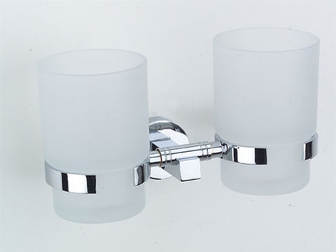 Omega Tumbler Holder - Double - Polished Chrome