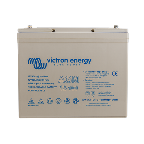 Victron 12V/100Ah AGM Super Cycle Battery (M6) BAT412110081