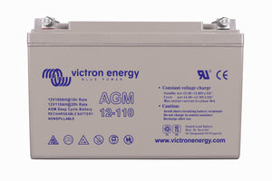 Victron 12V/110Ah AGM Deep Cycle Batt. (M8) BAT412101085