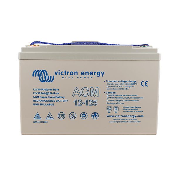 Victron 12V/125Ah AGM Super Cycle Battery (M8) BAT412112081