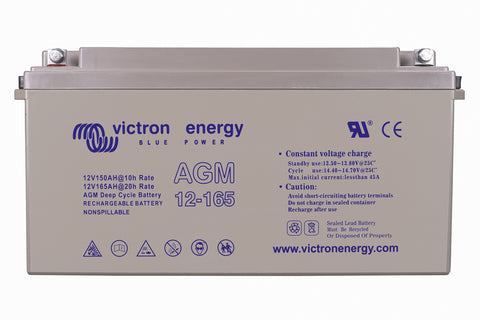 Victron 12V/165Ah AGM Deep Cycle Battery (M8) BAT412151085