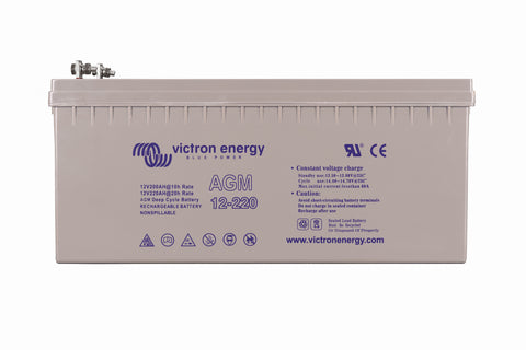 Victron 12V/220Ah AGM Deep Cycle Battery (M8) BAT412201085