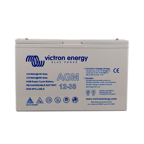 Victron 12V/38Ah AGM Super Cycle Battery (M5) BAT412038081