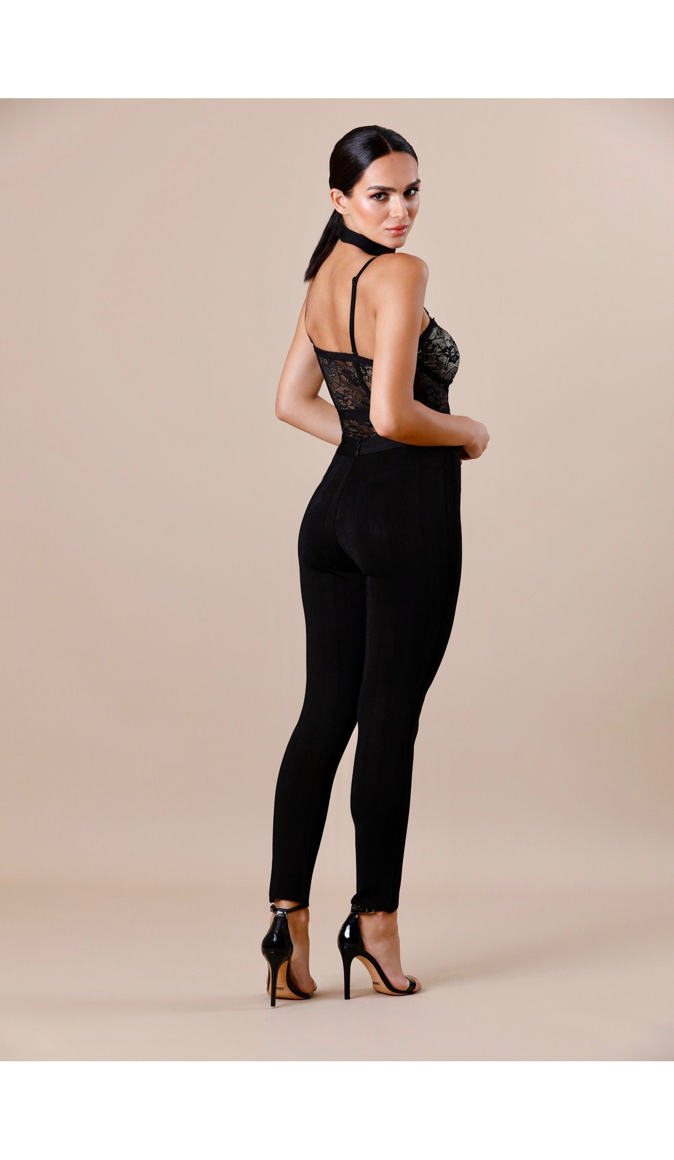 """JUSTINE"" Pinstripe Bodycon Pants"