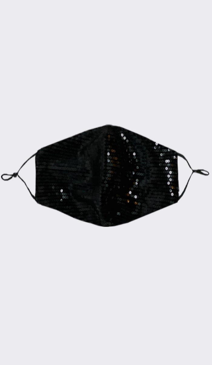 SEQUIN FASHION MASK - BLACK