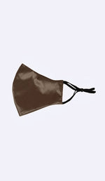 MULBERRY SILK FACE MASK- CHOCOLATE