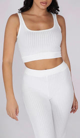 CHARO Ribbed  Crop Top