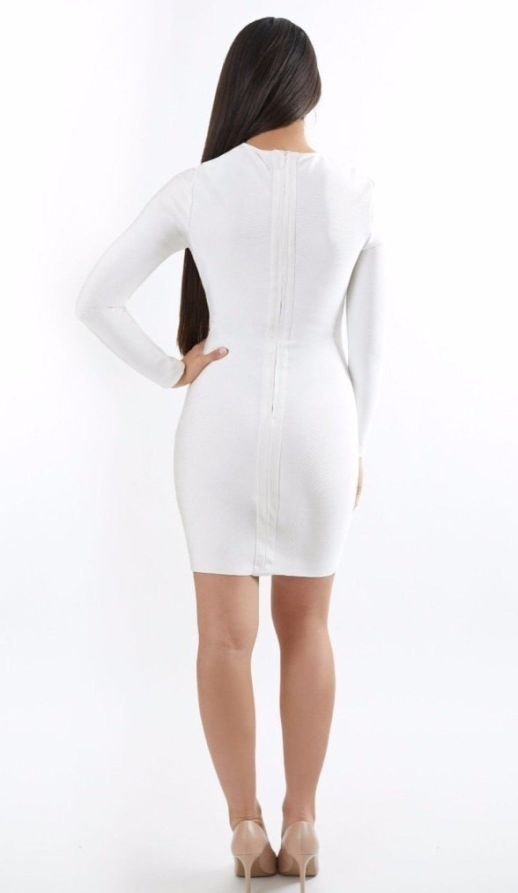 """GIZELLE"" Bandage Twist Knot Dress - GLAMBAE FASHION"