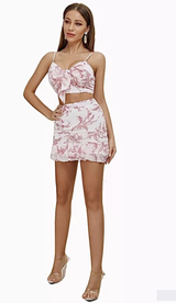SHEA Floral Chiffon Two Piece Set