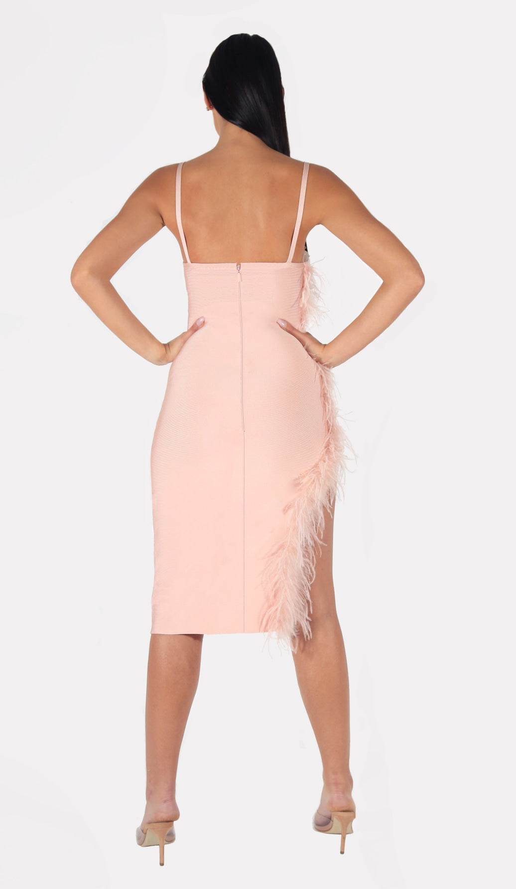 'SOFIA' Bandage Feather Dress
