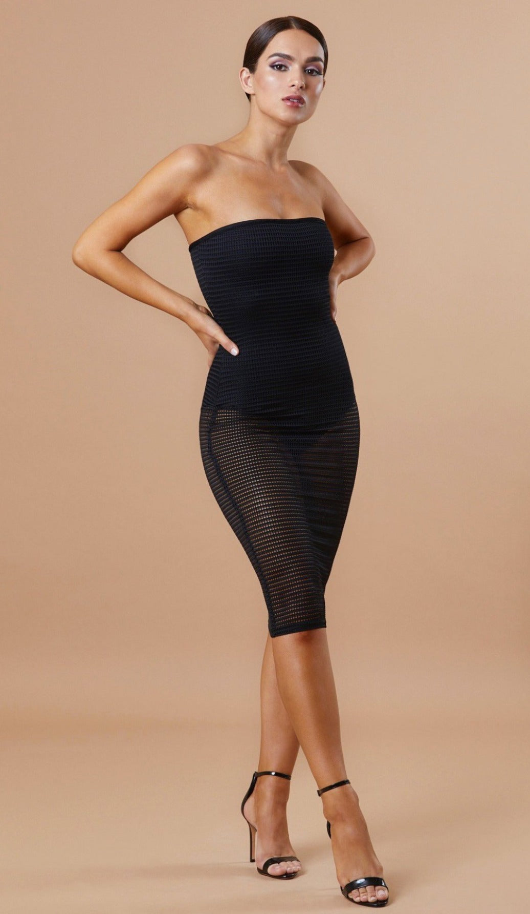 """KARISSA""  Strapless Mesh Bandage Dress - GLAMBAE FASHION"