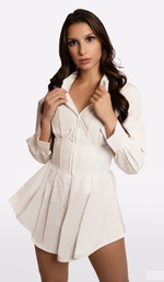 'MCKENZIE' Button Down Corset Mini Dress