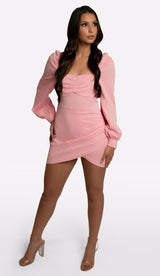 'NEMA' Puff Sleeve Mini Dress