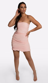 'KELSEY' Ruched Mini Dress